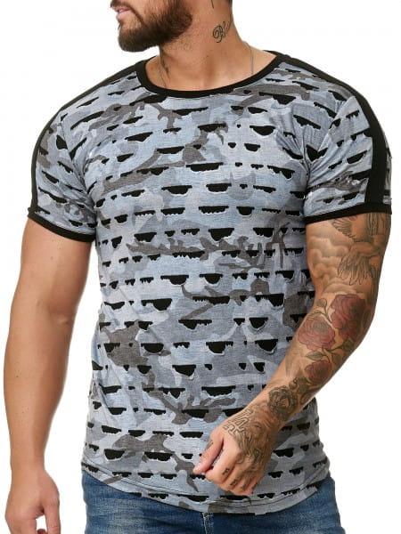 Herren T-Shirt Poloshirt Shirt Kurzarm Printshirt Polo Kurzarm 1330C