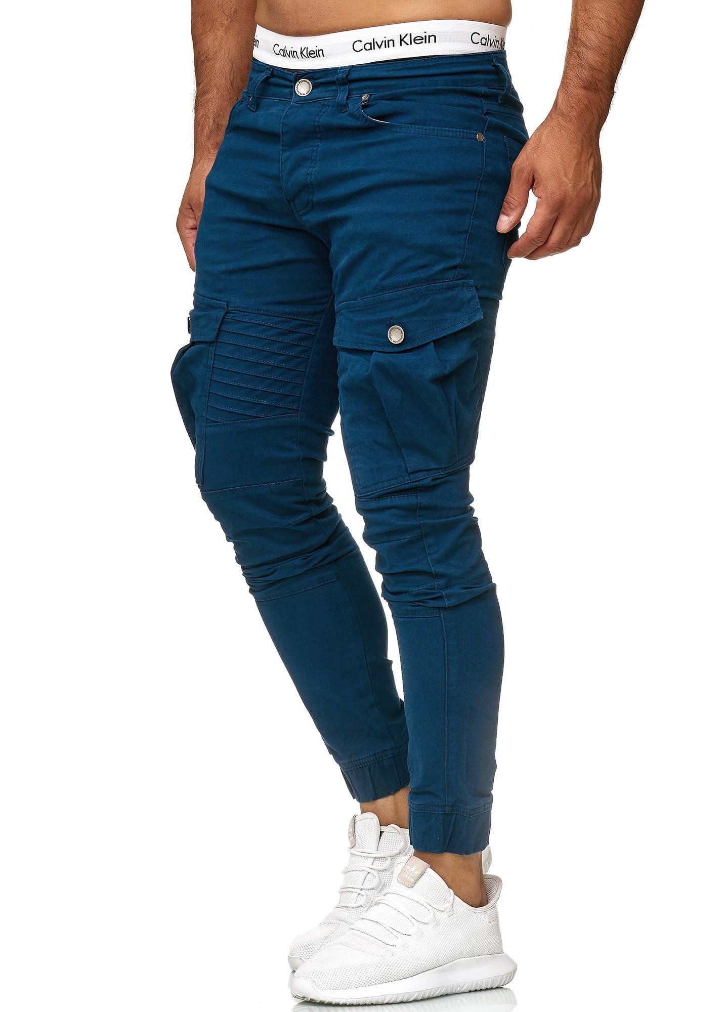 Herren Chino Hose Jeans Designer Chinohose Slim Fit Männer Skinny 1042